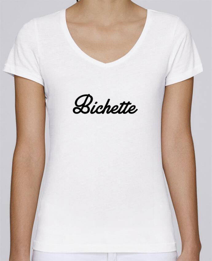 T-shirt Femme Col V Stella Chooses Bichette par Nana