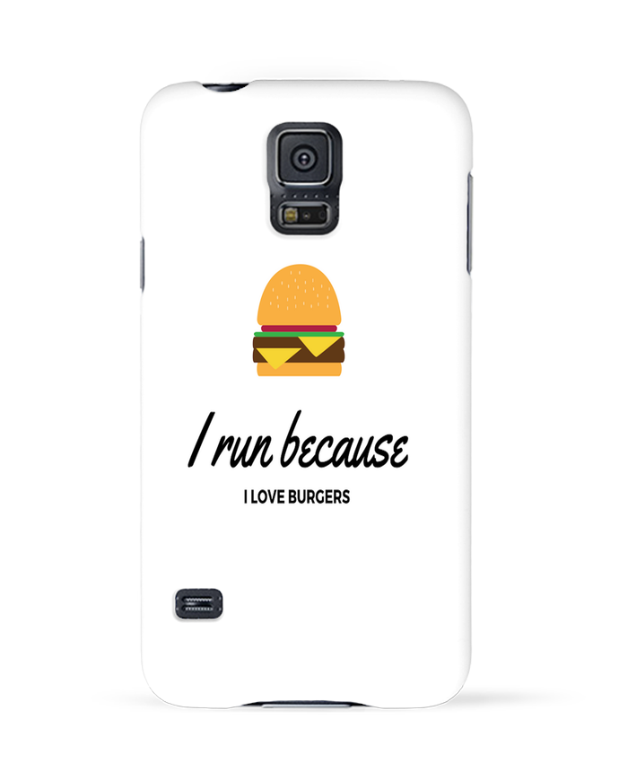 Coque 3D Samsung Galaxy S5 I run because I love burgers par followmeggy