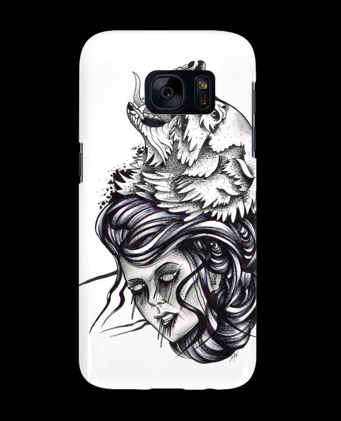 Coque 3D Samsung Galaxy S7 Femme & Loup par david