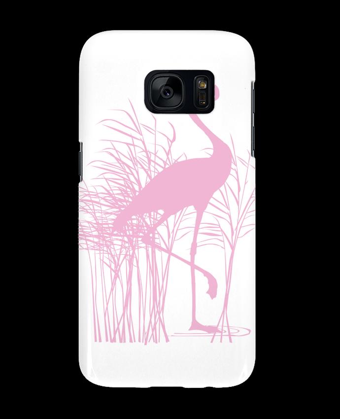 Coque 3D Samsung Galaxy S7 Flamant rose dans roseaux par Studiolupi