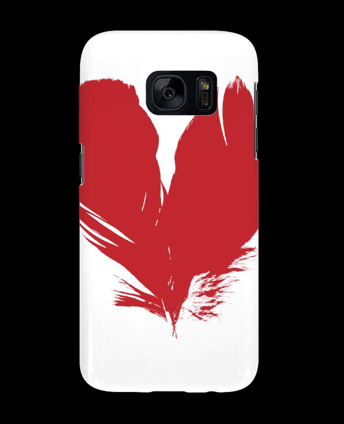 Coque 3D Samsung Galaxy S7 coeur de plumes par Studiolupi