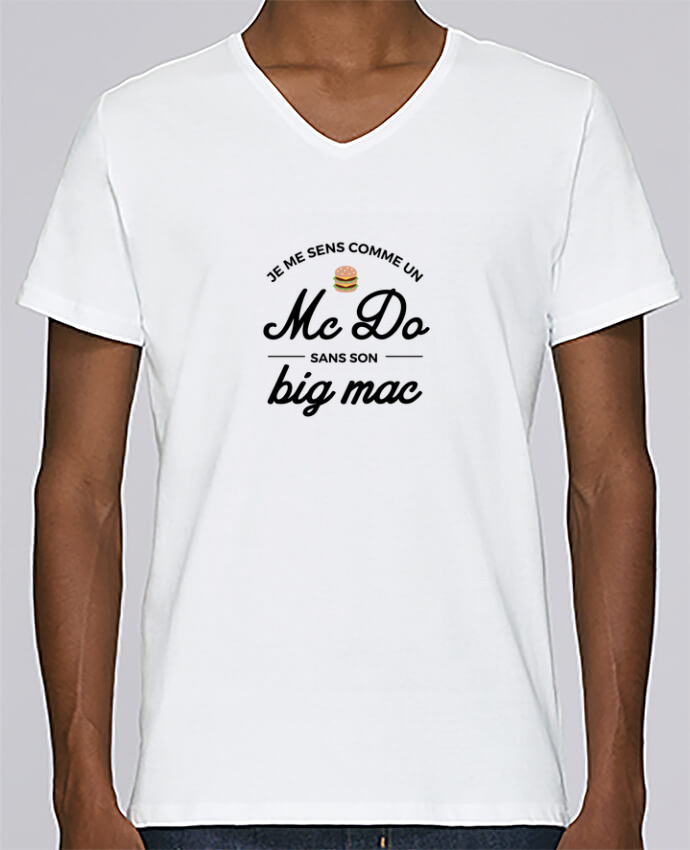 T-shirt Col V Homme Stanley Relaxes Comme un Mc Do sans son big Mac par Nana