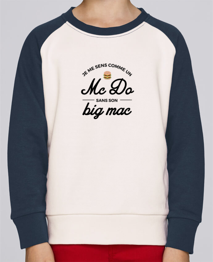 Sweat Shirt Col Rond Enfant Stanley Mini Contrast Comme un Mc Do sans son big Mac par Nana