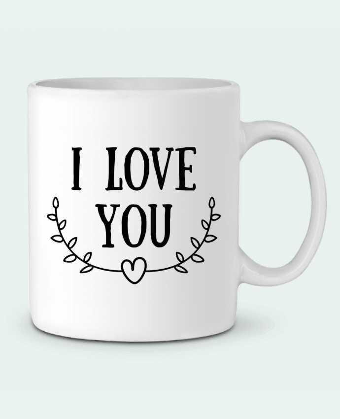 Mug en Céramique I love you par tunetoo