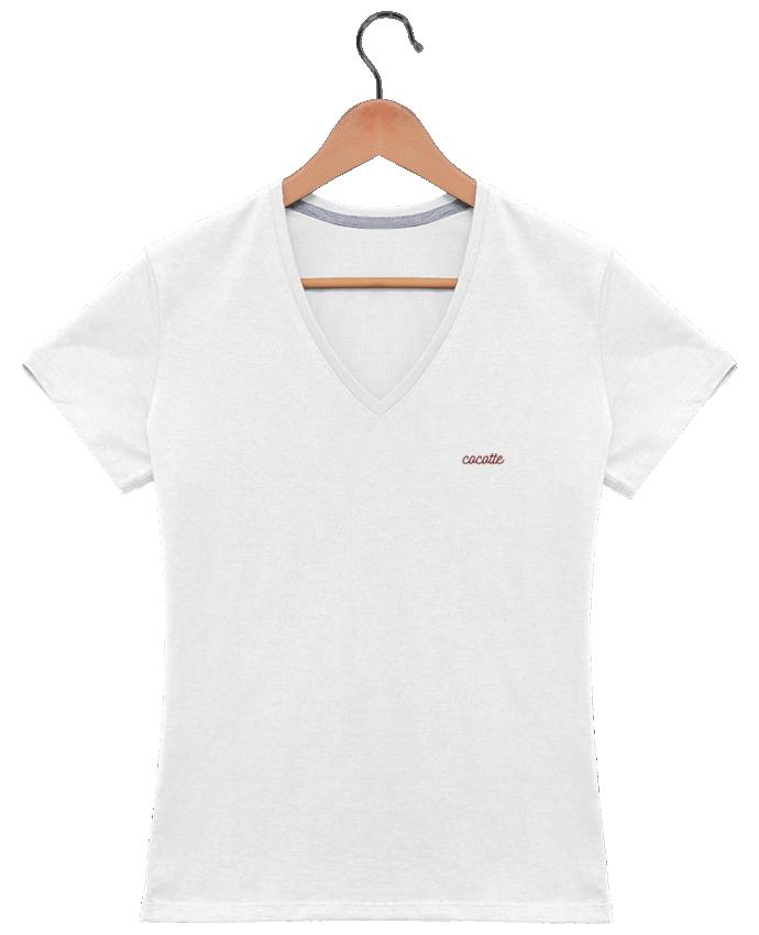 T-shirt Col V Femme 180 gr Cocotte par tunetoo