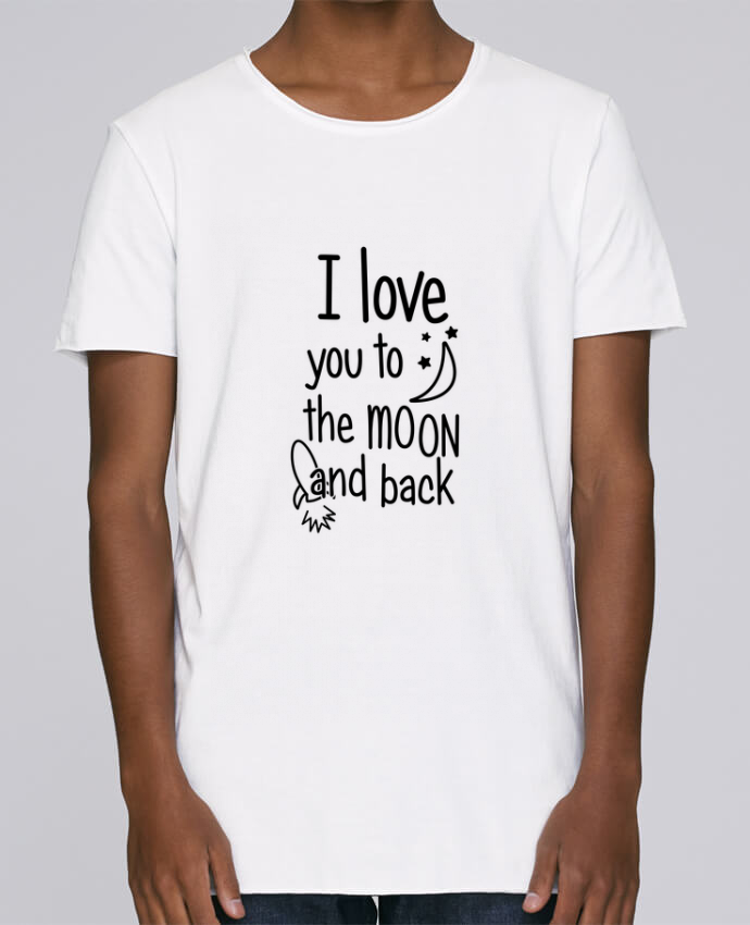 T-shirt Homme Oversized Stanley Skates I love you to the moon and back par tunetoo