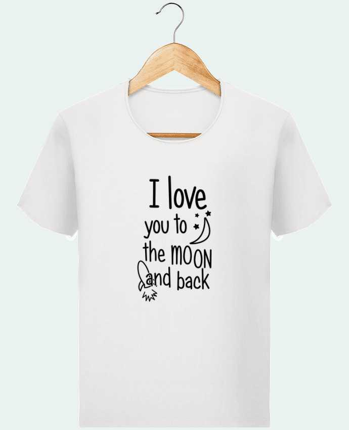 T-shirt Homme Stanley Imagines Vintage I love you to the moon and back par tunetoo
