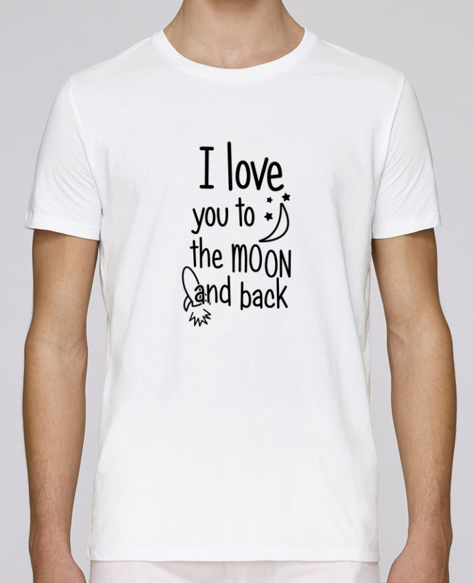 T-Shirt Col Rond Stanley Leads I love you to the moon and back par tunetoo
