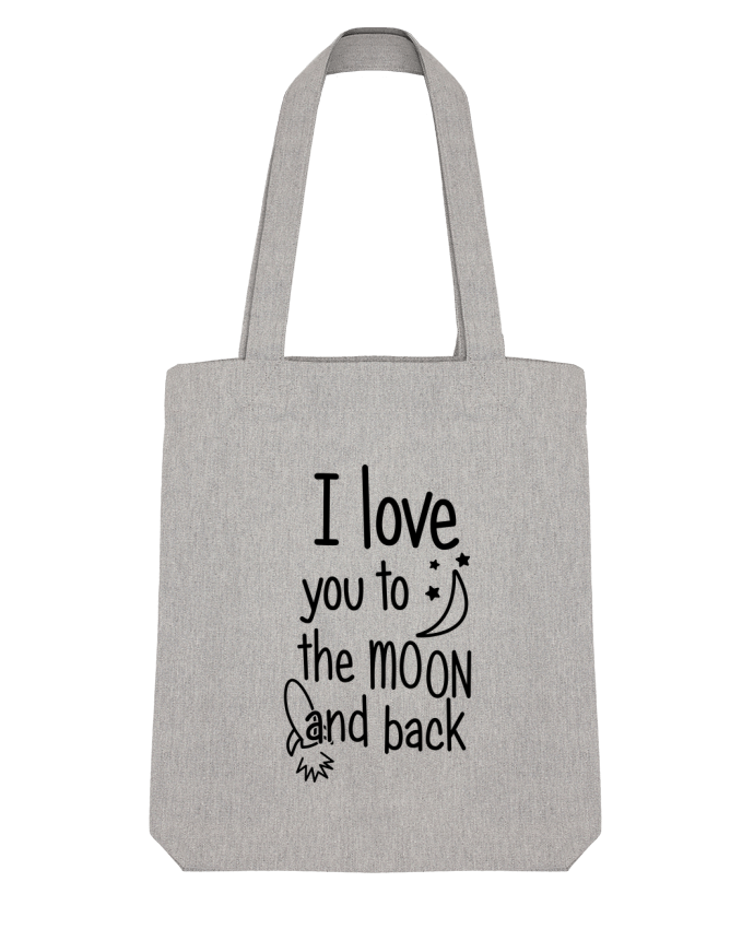 Tote Bag Stanley Stella I love you to the moon and back par tunetoo