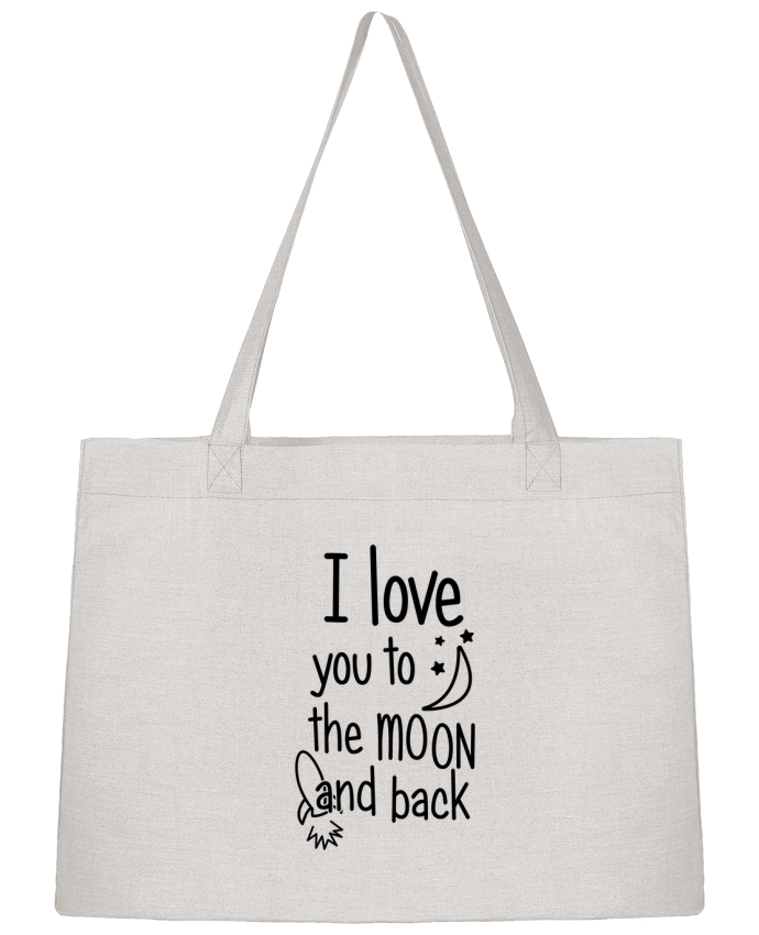Sac Cabas Shopping Stanley Stella I love you to the moon and back par tunetoo