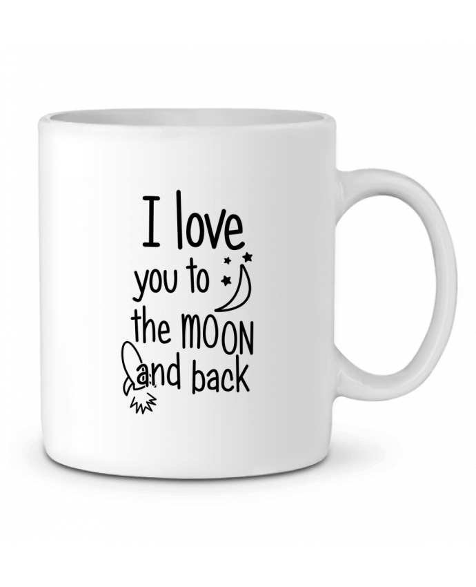 Mug en Céramique I love you to the moon and back par tunetoo