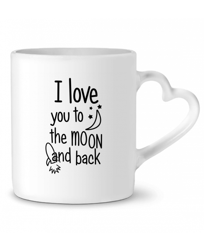 Mug Coeur I love you to the moon and back par tunetoo