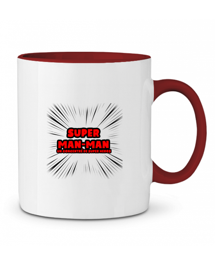 Mug en Céramique Bicolore Super Man-Man lip