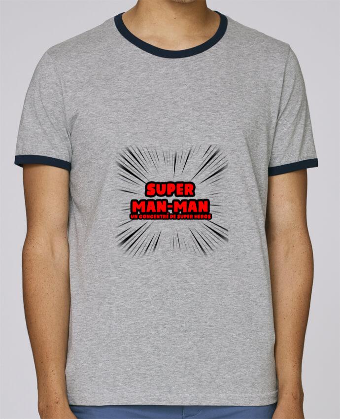 T-Shirt Ringer Contrasté Homme Stanley Holds Super Man-Man pour femme par lip