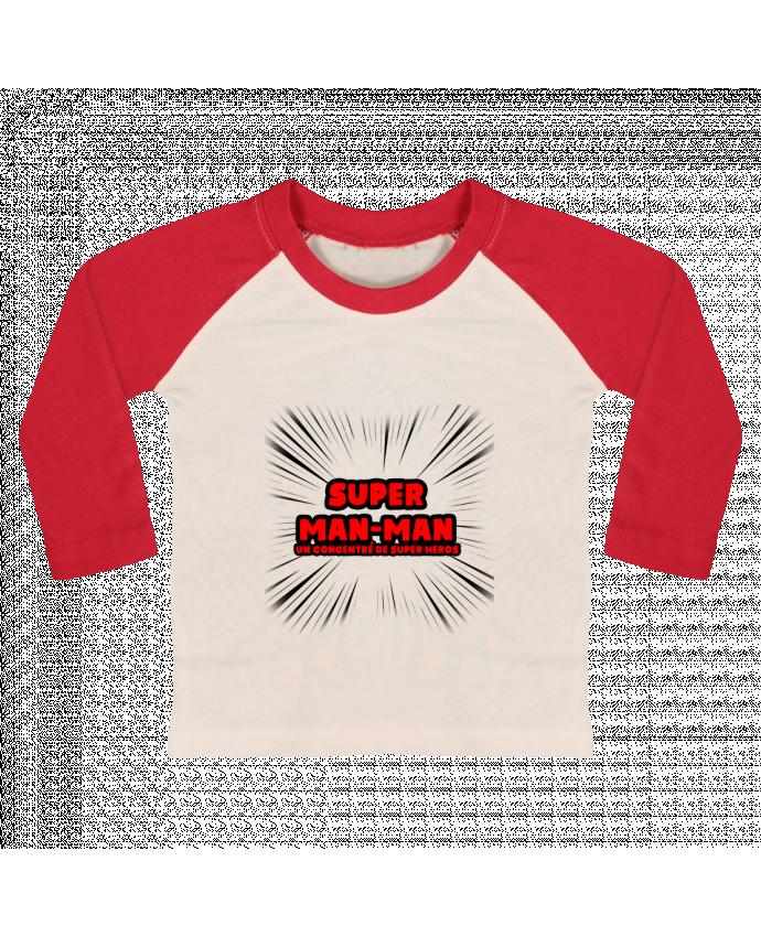 T-shirt Bébé Baseball Manches Longues Super Man-Man par lip