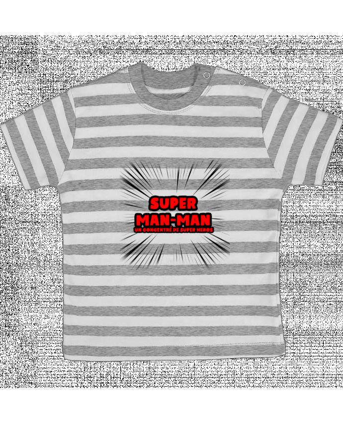 T-shirt Bébé à Rayures Super Man-Man par lip