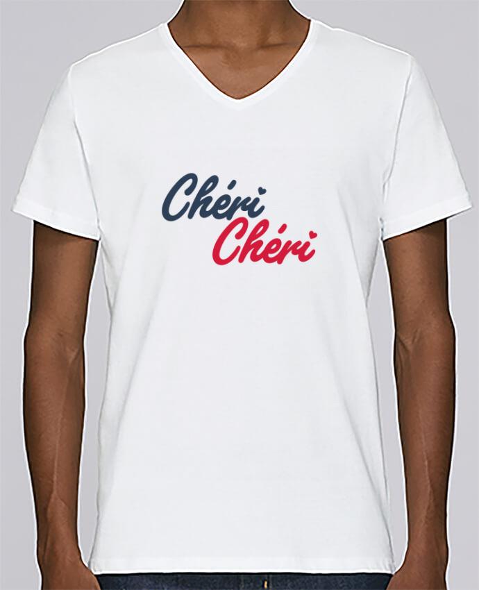 T-shirt Col V Homme Stanley Relaxes Chéri Chéri par tunetoo