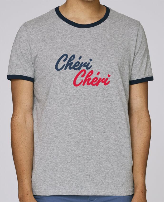 T-Shirt Ringer Contrasté Homme Stanley Holds Chéri Chéri pour femme par tunetoo