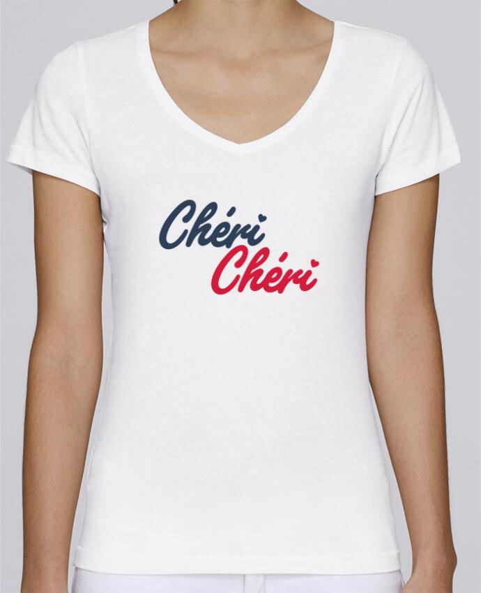 T-shirt Femme Col V Stella Chooses Chéri Chéri par tunetoo