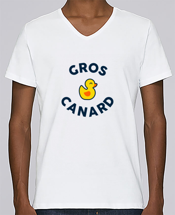 T-shirt Col V Homme Stanley Relaxes Gros Canard par tunetoo