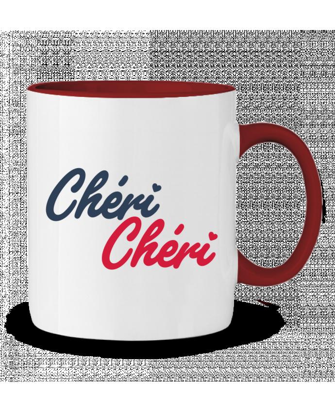 Mug en Céramique Bicolore Chéri Chéri tunetoo