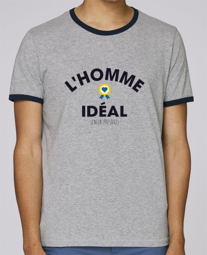 T-Shirt Ringer Contrasté Homme Stanley Holds L'homme Idéal pour femme par tunetoo