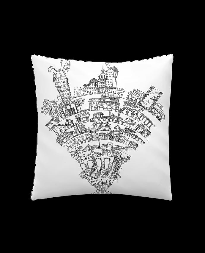 Coussin Synthétique Doux 41 x 41 cm Perintzia invisible city par Jugodelimon