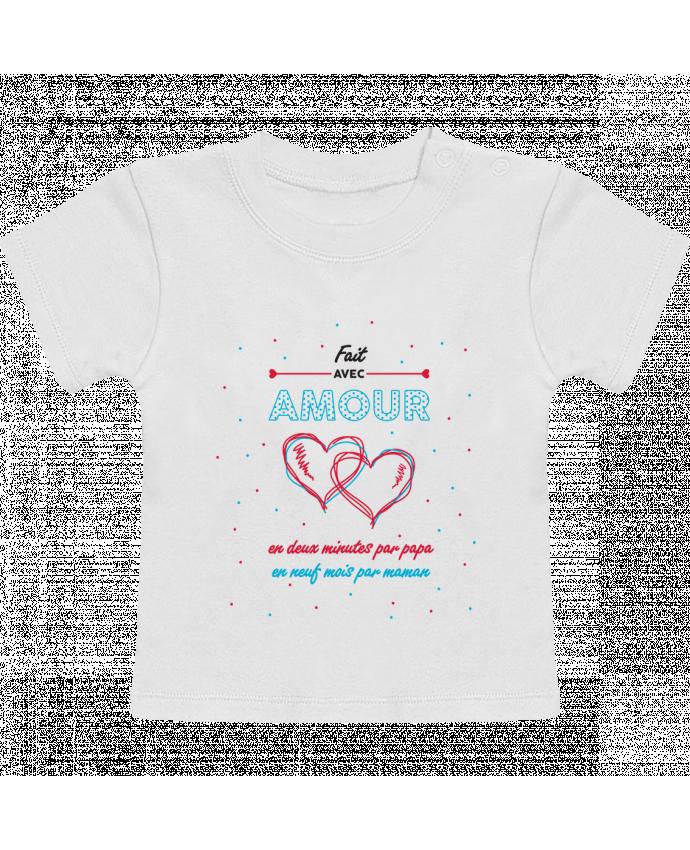 T-Shirt Bébé Manches Courtes Fait avec amour manches courtes du designer tunetoo