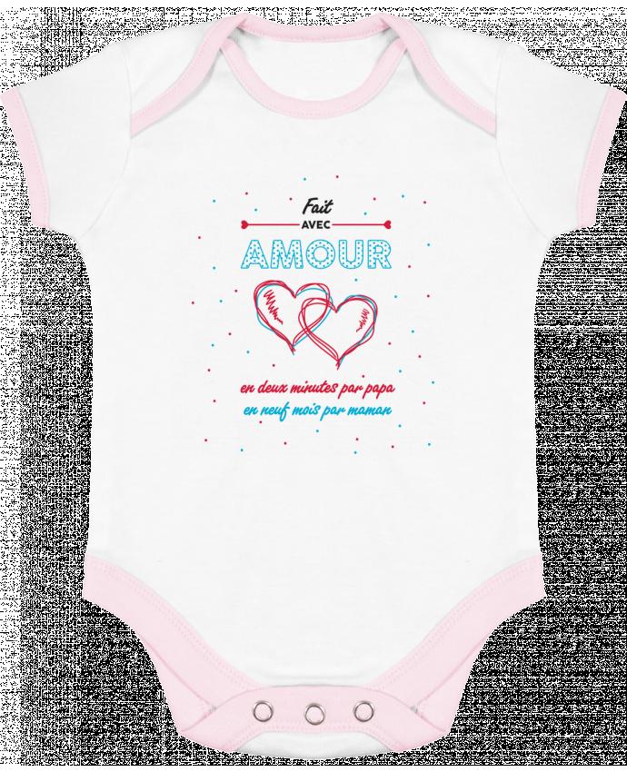 Body Bébé Contrasté Fait avec amour par tunetoo