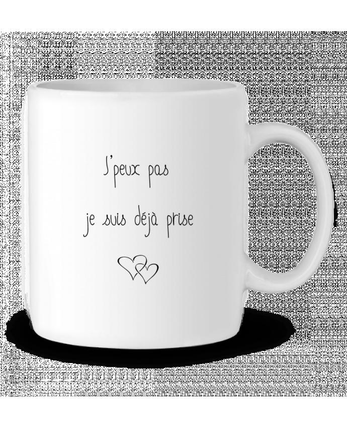 Mug en Céramique Je suis déjà prise par Tee Smiles