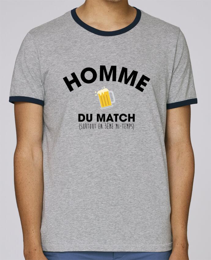 T-Shirt Ringer Contrasté Homme Stanley Holds Homme du match - Bière pour femme par tunetoo