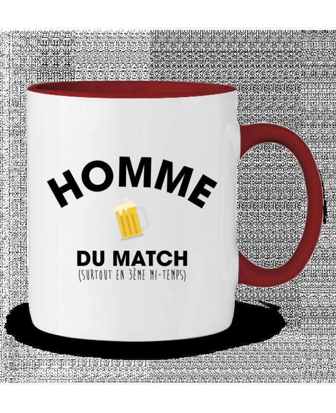 Mug en Céramique Bicolore Homme du match - Bière tunetoo