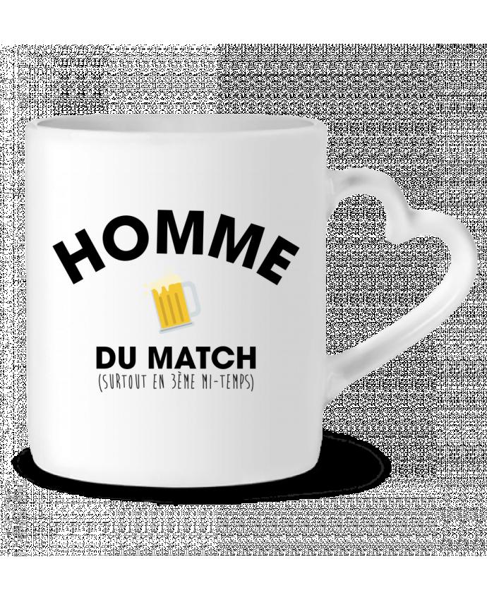 Mug Coeur Homme du match - Bière par tunetoo