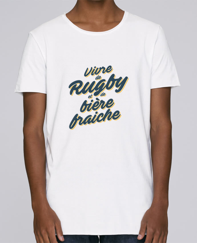 T-shirt Homme Oversized Stanley Skates Vivre de rugby et de bière fraîche par tunetoo