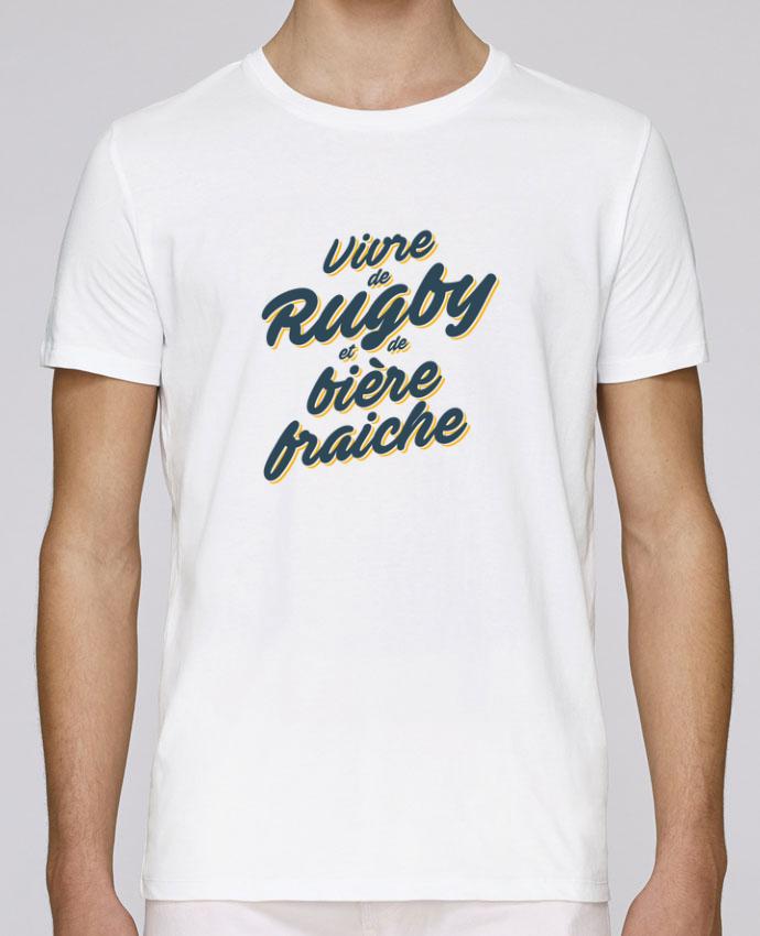 T-Shirt Col Rond Stanley Leads Vivre de rugby et de bière fraîche par tunetoo