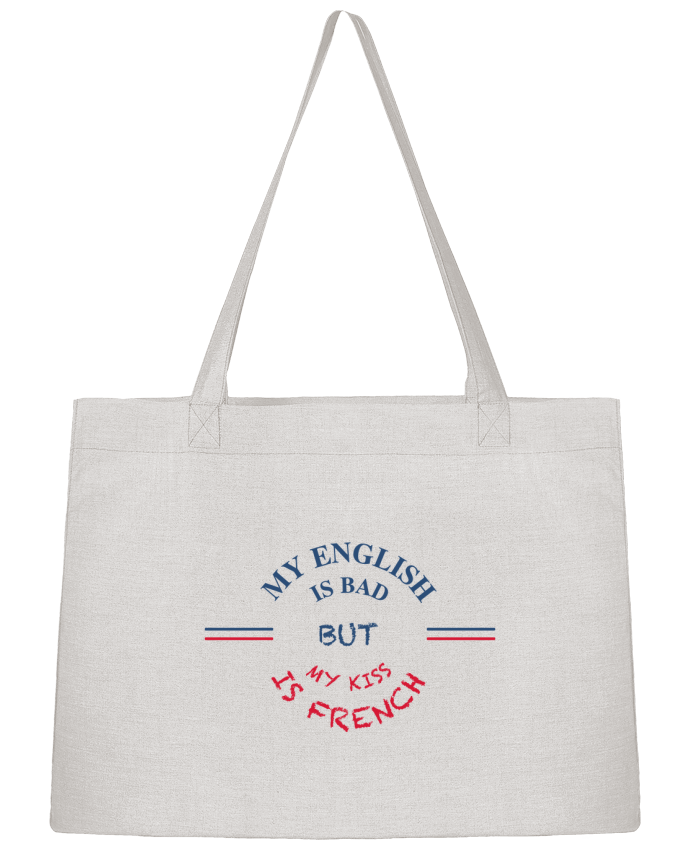 Sac Cabas Shopping Stanley Stella My english is bad but my kiss is french par tunetoo