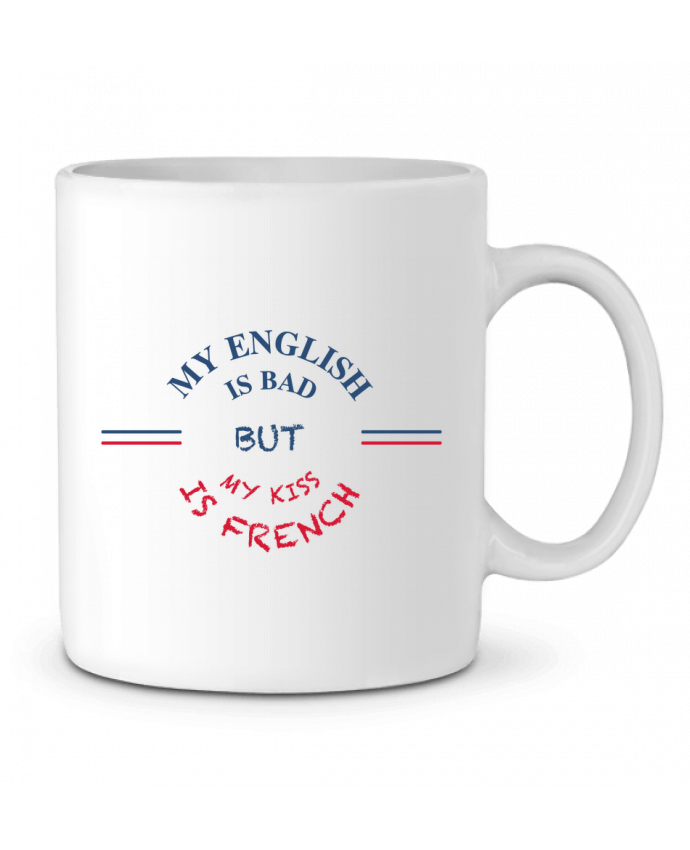 Mug en Céramique My english is bad but my kiss is french par tunetoo