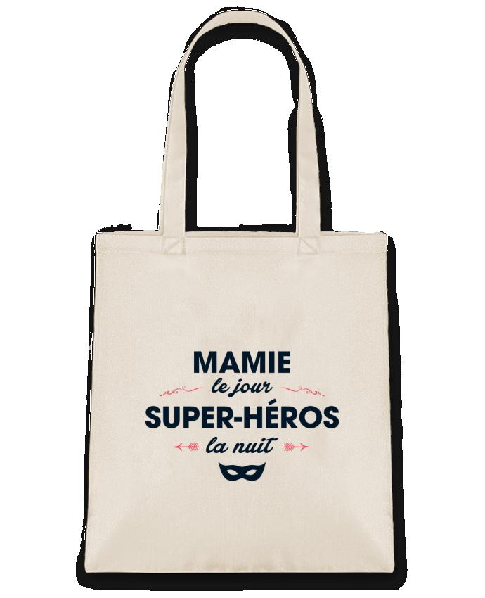 Sac en Toile Coton Mamie le jour, super-héros la nuit par tunetoo