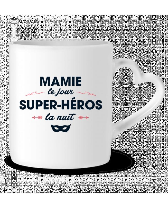 Mug Coeur Mamie le jour, super-héros la nuit par tunetoo