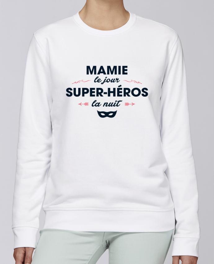 Sweat Col rond Unisexe Stanley Stella Rise Mamie le jour, super-héros la nuit par tunetoo