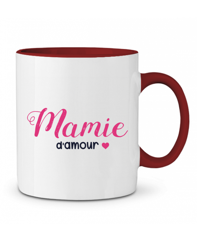 Mug en Céramique Bicolore Mamie d'amour tunetoo