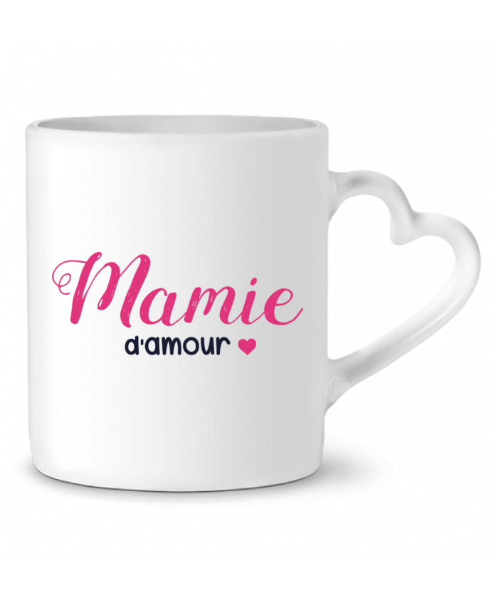 Mug Coeur Mamie d'amour par tunetoo