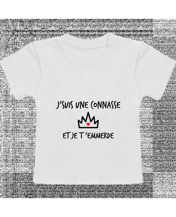 T-Shirt Bébé Manches Courtes J'suis une connasse et je t'emmerde manches courtes du designer Benichan