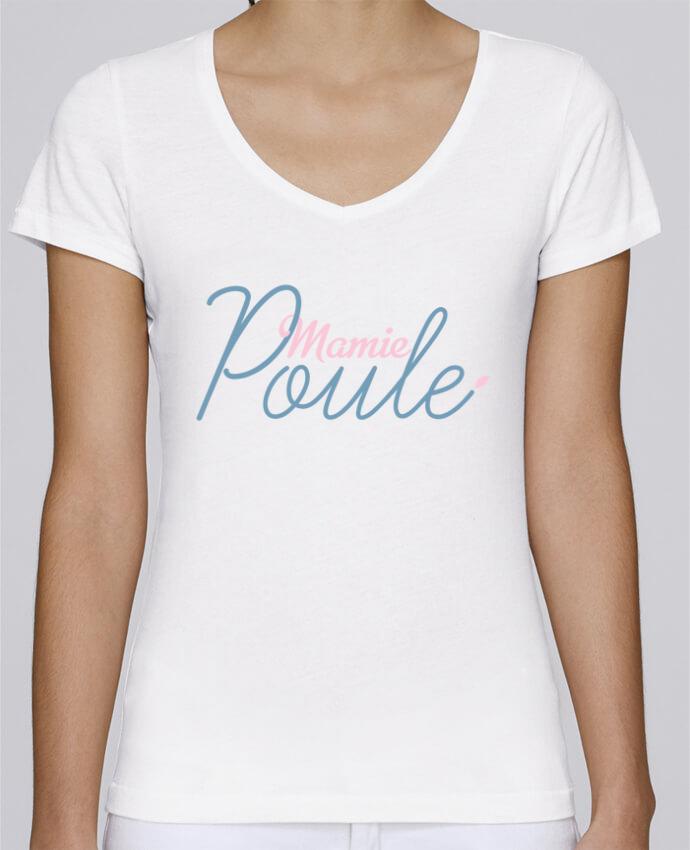T-shirt Femme Col V Stella Chooses Mamie poule par tunetoo
