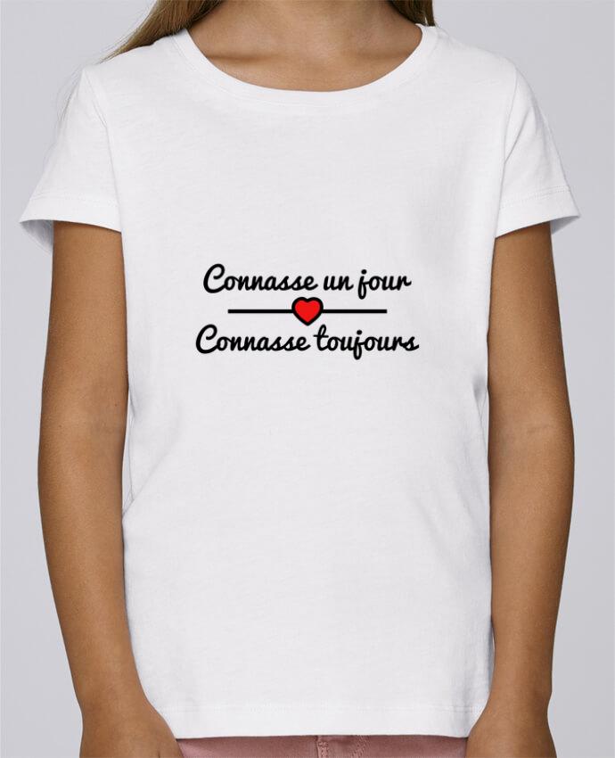 T-shirt Fille Mini Stella Draws Connasse un jour, connasse toujours par Benichan