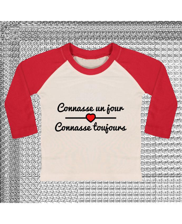 T-shirt Bébé Baseball Manches Longues Connasse un jour, connasse toujours par Benichan