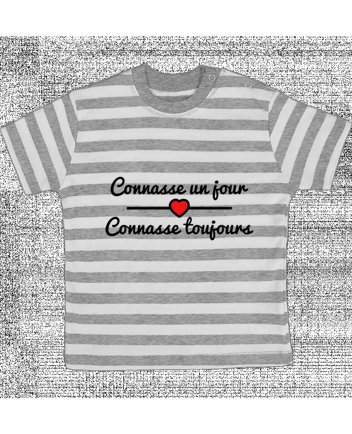 T-shirt Bébé à Rayures Connasse un jour, connasse toujours par Benichan