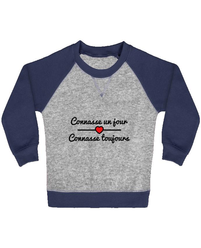 Sweat Shirt Bébé Col Rond Manches Raglan Contrastées Connasse un jour, connasse toujours par Benichan