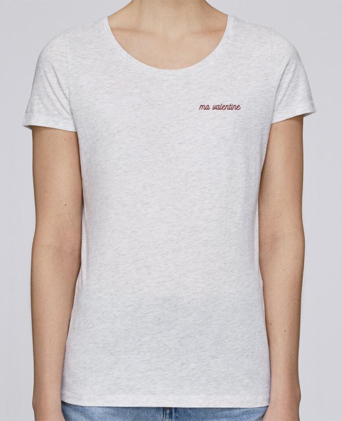 T-shirt  Femme Brodé Ma valentine par tunetoo