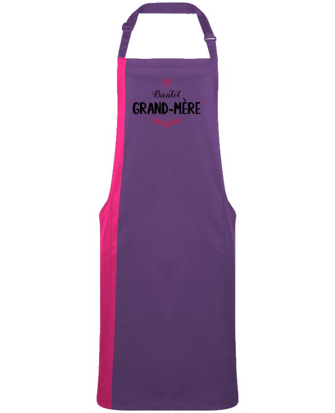 Tablier Long Bicolore Bientôt grand-mère par  tunetoo